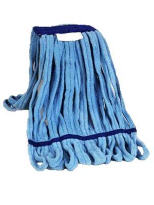 Strengenmop microvezeldoek blauw met band gelust 350 gram