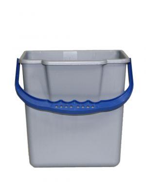 Emmer 6 L grijs/blauw