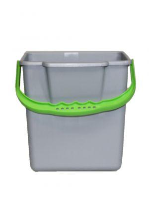 Emmer 6L grijs/groen