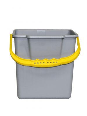 Emmer 6L grijs/geel