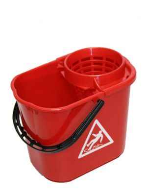 Minimopemmer 14 L met uitwringkorf  rood.(10st)