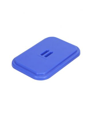 Deksel kunststof v. afvalzakhouder 120 ltr. blauw.