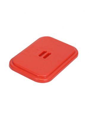 Deksel kunststof v. afvalzakhouder 120 ltr. rood.  Voor materiaalwagen J1, J2, J4