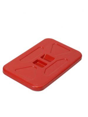 Deksel voor afvalzakhouder 70L rood