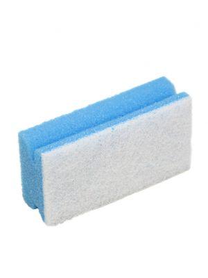 Spons blauw met greep en witte pad