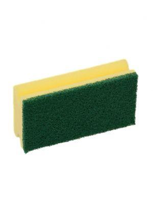 Spons met greep en groene pad (5st)