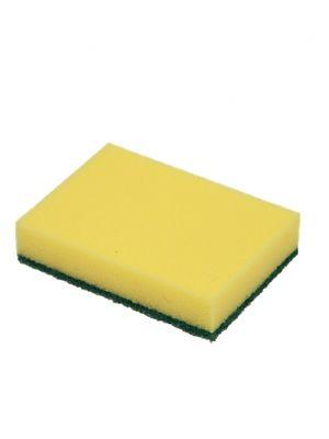Schuurspons geel met groene pad (10st)