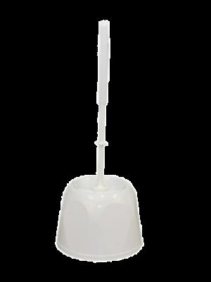 Toiletborstelgarnituur. Kunststof laag model. Wit