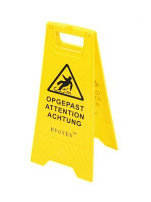 HYGYEN Waarschuwingsbord Opgepast, Attention, Achtung 62cm (10 st)