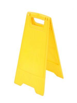 Waarschuwingsbord geel  blanco (10 st)